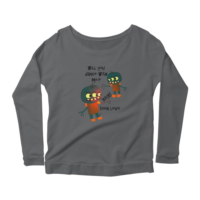 True Teen Love Women's Scoop Neck Longsleeve T-Shirt by artworkdealers Artist Shop