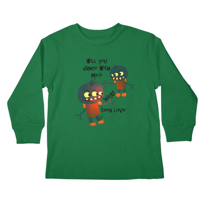 True Teen Love Kids Longsleeve T-Shirt by artworkdealers Artist Shop