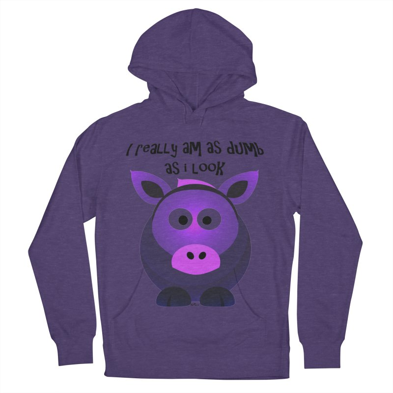 Dumb as I Look Men's French Terry Pullover Hoody by artworkdealers Artist Shop