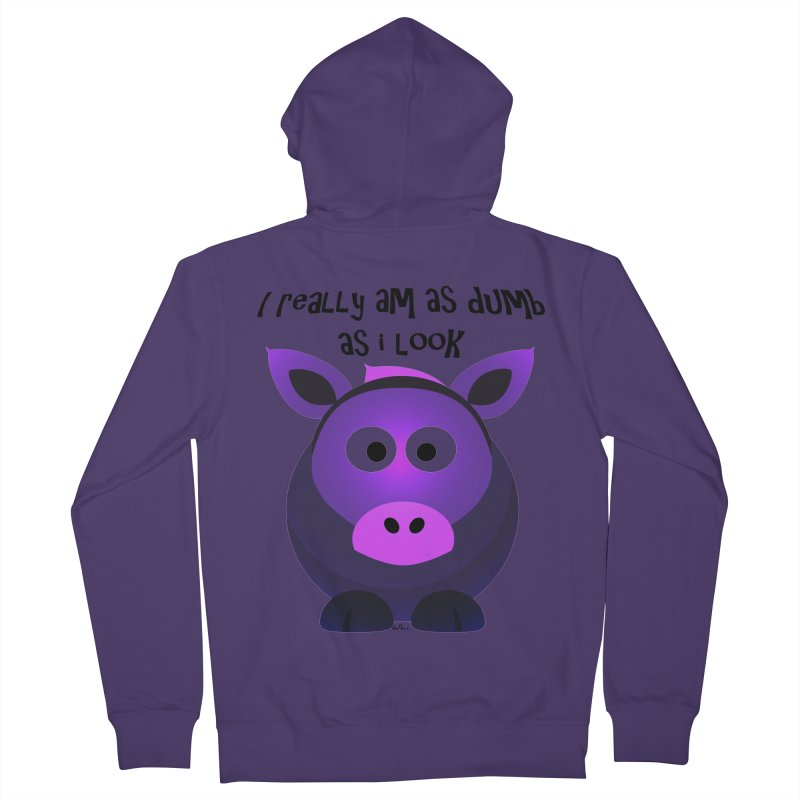Dumb as I Look Women's French Terry Zip-Up Hoody by artworkdealers Artist Shop