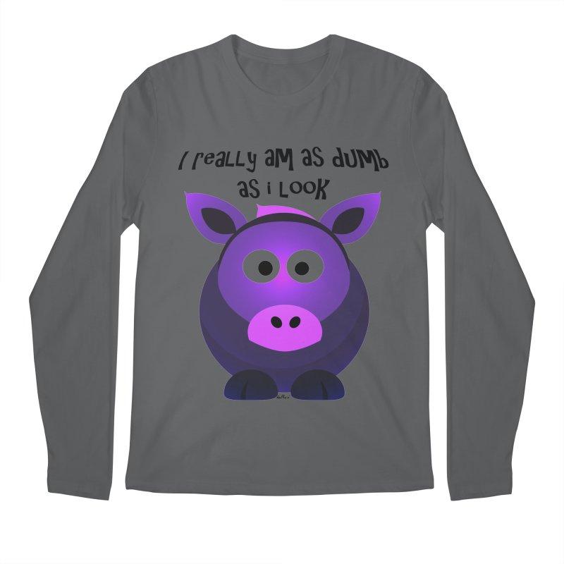 Dumb as I Look Men's Regular Longsleeve T-Shirt by artworkdealers Artist Shop