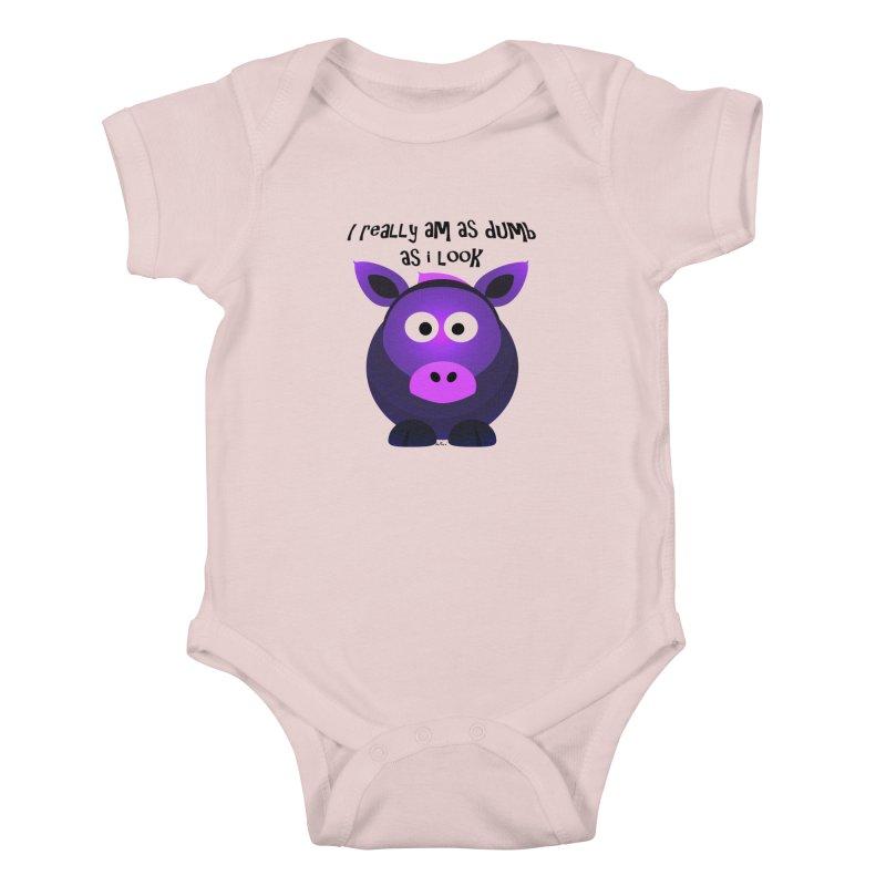 Dumb as I Look Kids Baby Bodysuit by artworkdealers Artist Shop