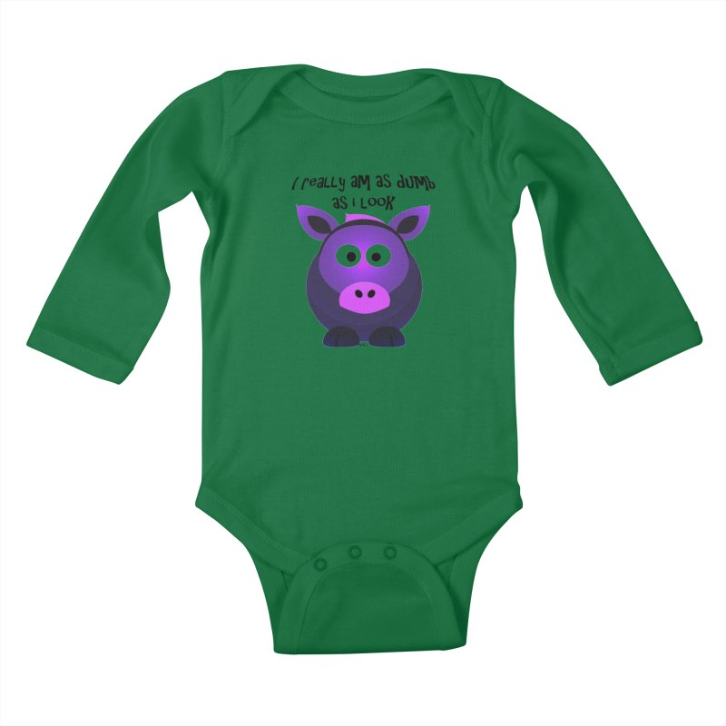 Dumb as I Look Kids Baby Longsleeve Bodysuit by artworkdealers Artist Shop