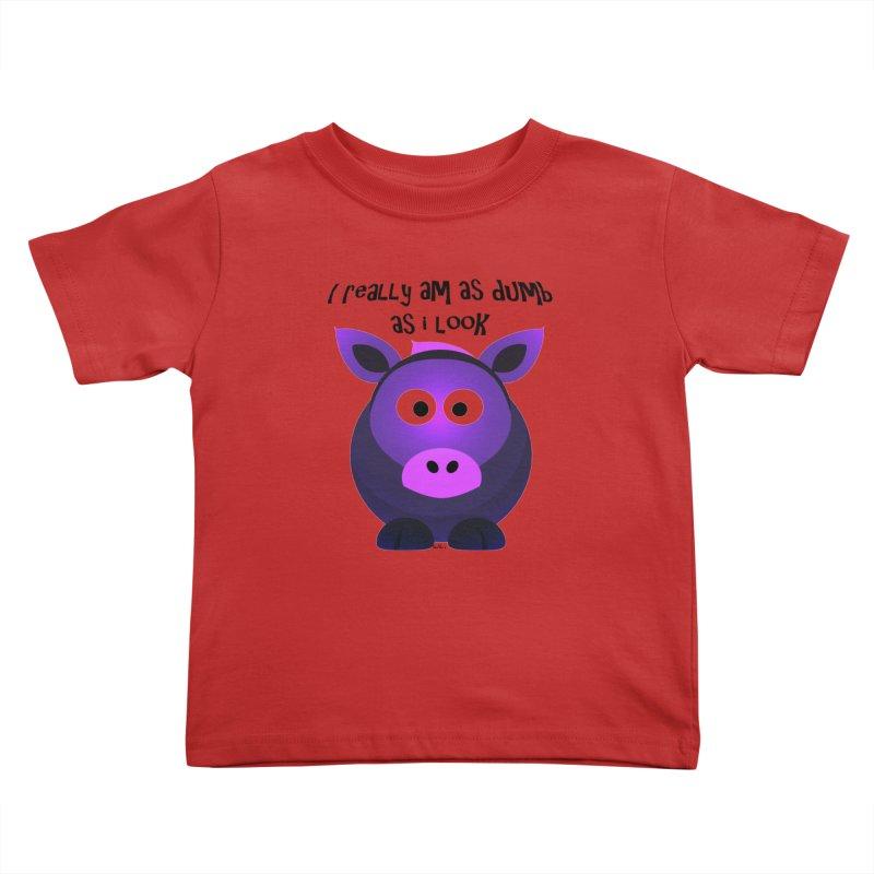 Dumb as I Look Kids Toddler T-Shirt by artworkdealers Artist Shop