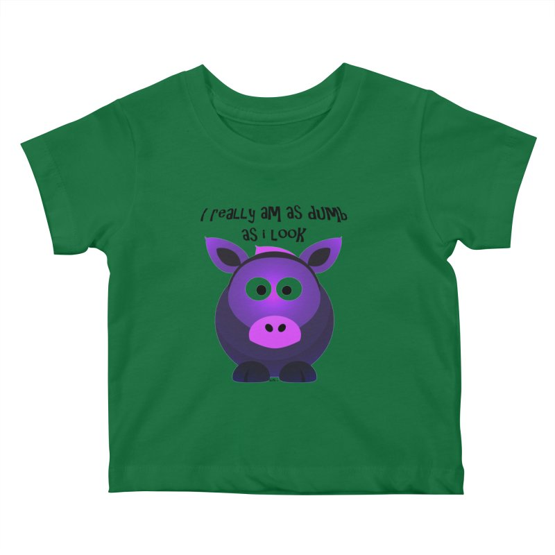 Dumb as I Look Kids Baby T-Shirt by artworkdealers Artist Shop