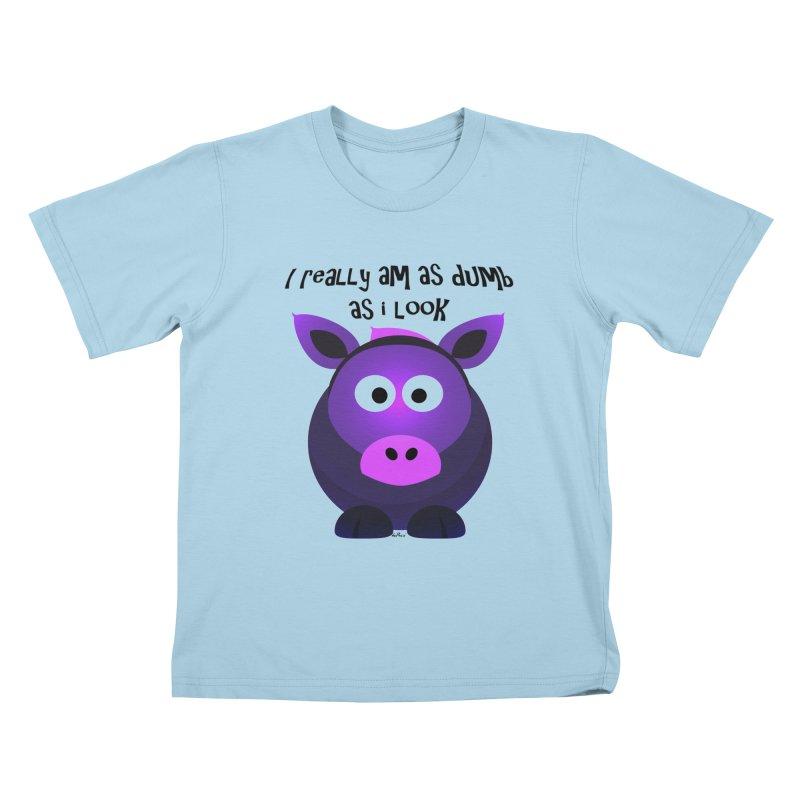 Dumb as I Look Kids T-Shirt by artworkdealers Artist Shop