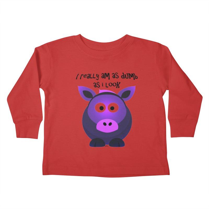 Dumb as I Look Kids Toddler Longsleeve T-Shirt by artworkdealers Artist Shop