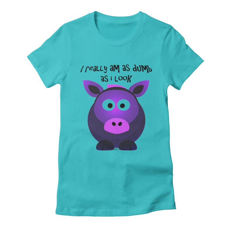 Dumb as I Look Women's Fitted T-Shirt by artworkdealers Artist Shop