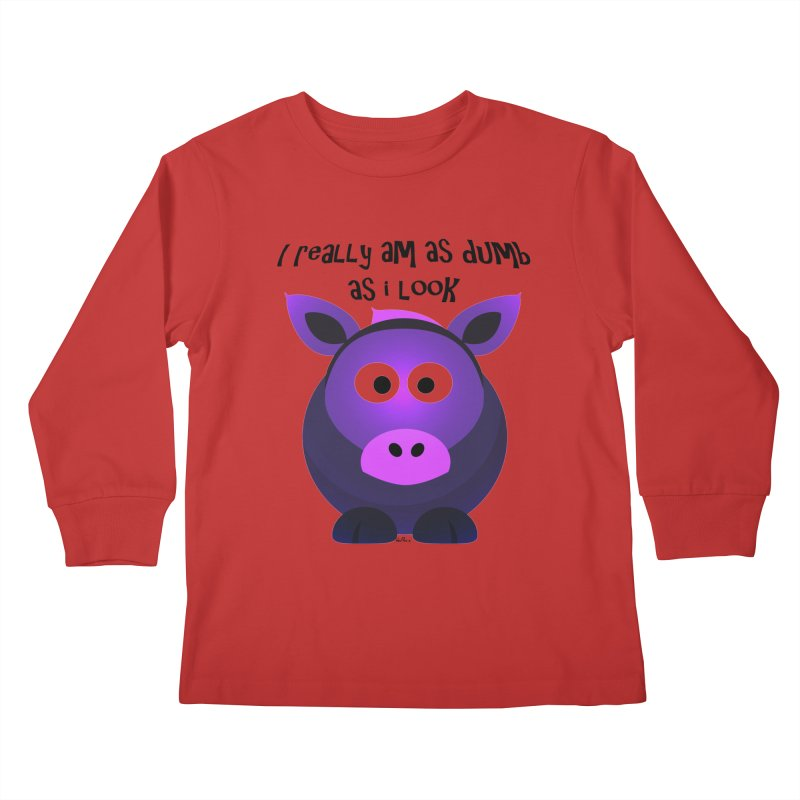 Dumb as I Look Kids Longsleeve T-Shirt by artworkdealers Artist Shop