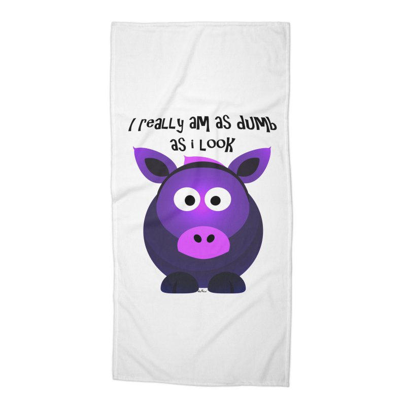 Dumb as I Look Accessories Beach Towel by artworkdealers Artist Shop