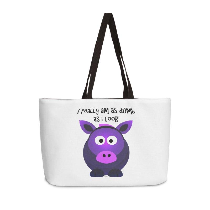 Dumb as I Look Accessories Weekender Bag Bag by artworkdealers Artist Shop