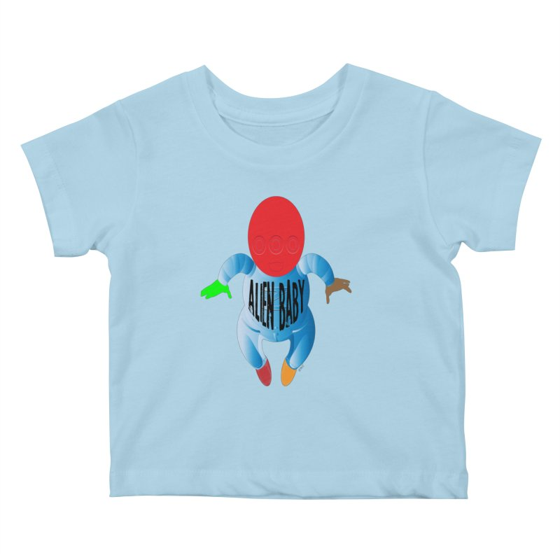 Alien Baby Kids Baby T-Shirt by artworkdealers Artist Shop