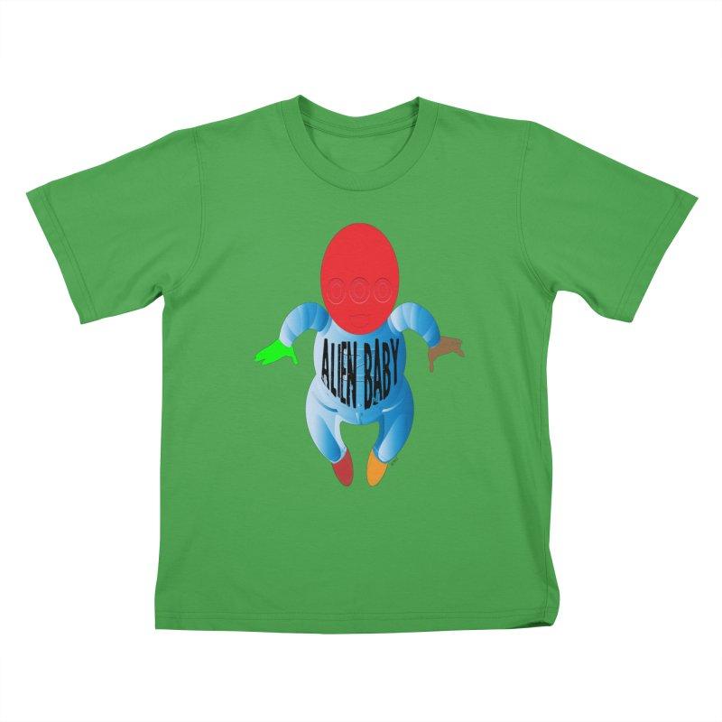 Alien Baby Kids T-Shirt by artworkdealers Artist Shop