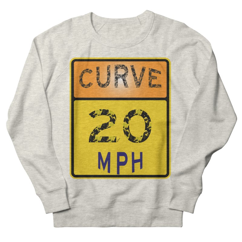 Curve 20 MPH Sign Men's French Terry Sweatshirt by artworkdealers Artist Shop