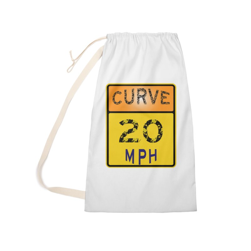 Curve 20 MPH Sign Accessories Laundry Bag Bag by artworkdealers Artist Shop