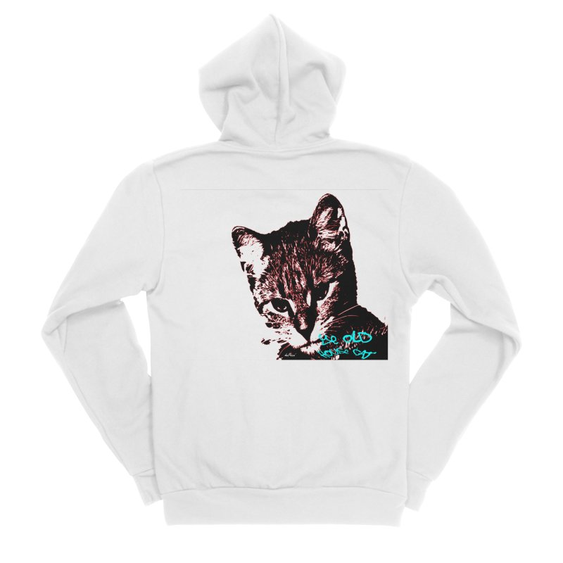 Ye Old House Cat Men's Sponge Fleece Zip-Up Hoody by artworkdealers Artist Shop