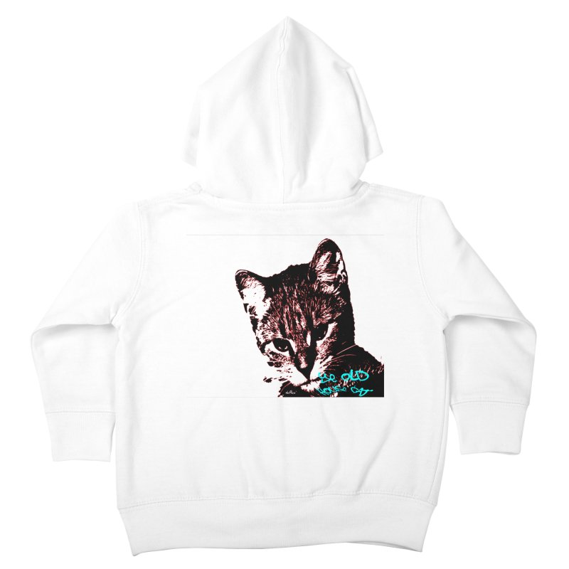 Ye Old House Cat Kids Toddler Zip-Up Hoody by artworkdealers Artist Shop
