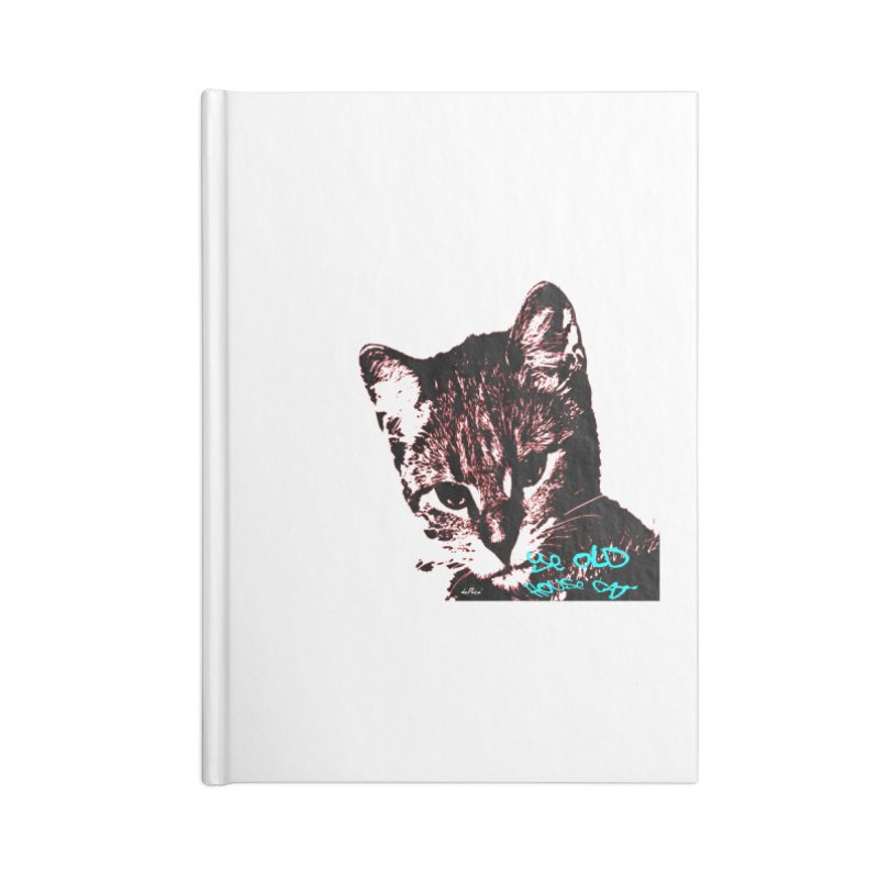 Ye Old House Cat Accessories Blank Journal Notebook by artworkdealers Artist Shop