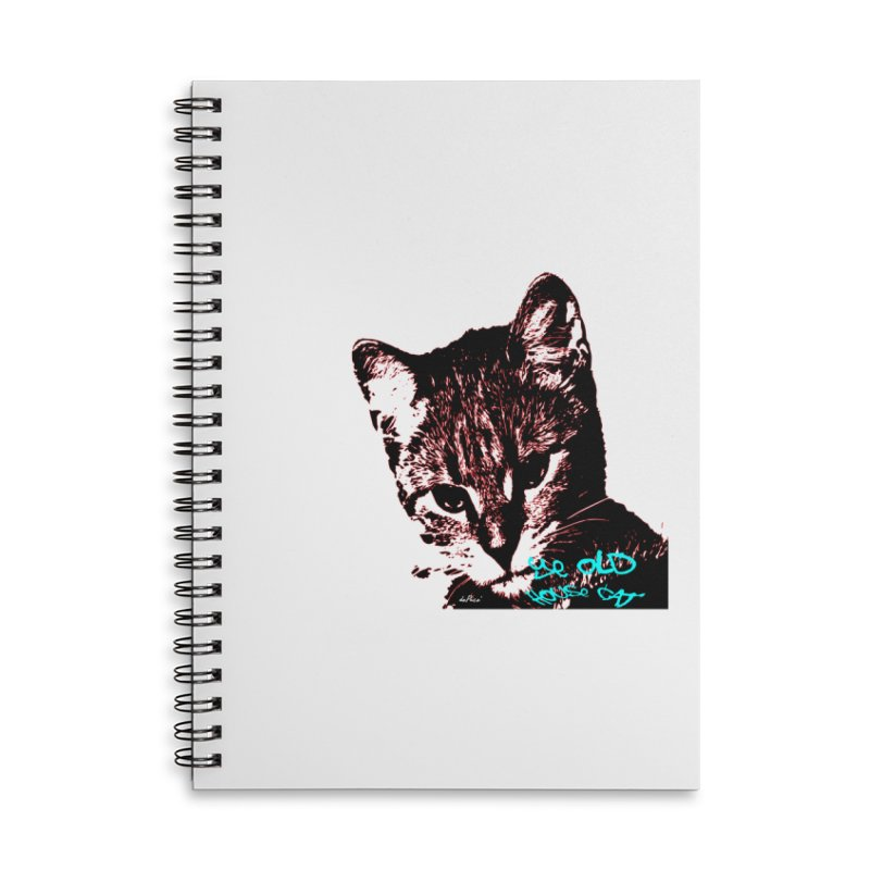 Ye Old House Cat Accessories Lined Spiral Notebook by artworkdealers Artist Shop
