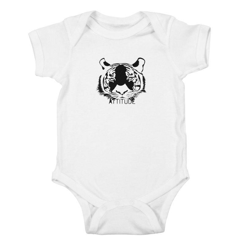 attitude Kids Baby Bodysuit by artworkdealers Artist Shop