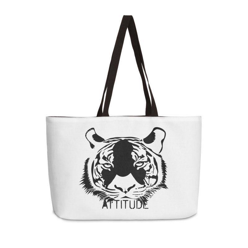 attitude Accessories Weekender Bag Bag by artworkdealers Artist Shop
