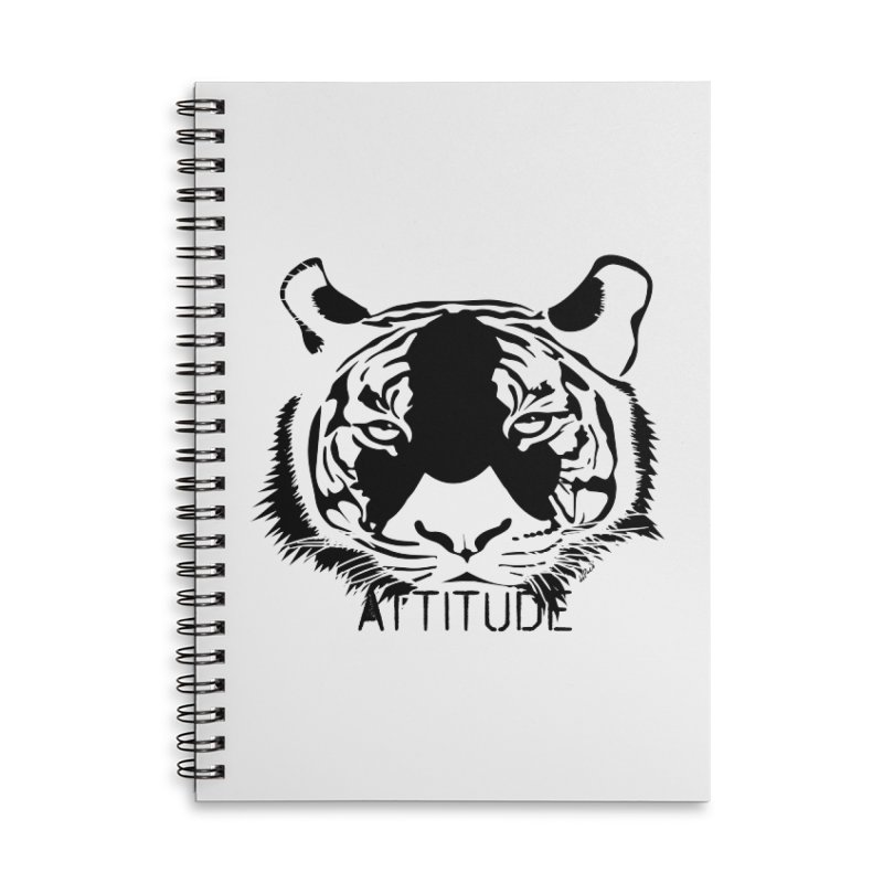 attitude Accessories Lined Spiral Notebook by artworkdealers Artist Shop