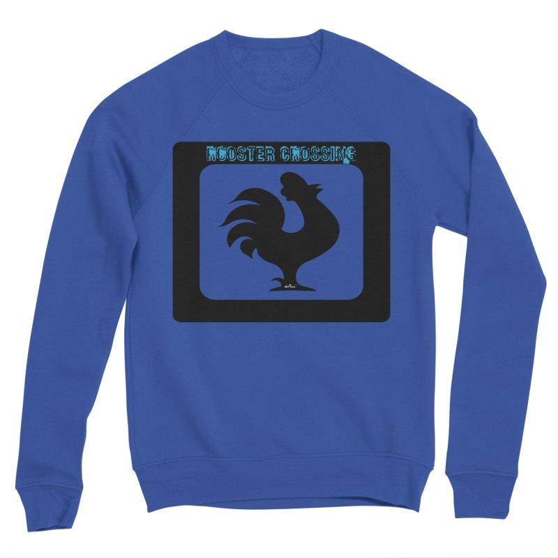 Rooster Crossing Sign Women's Sponge Fleece Sweatshirt by artworkdealers Artist Shop