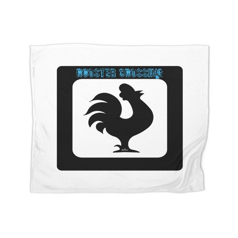 Rooster Crossing Sign Home Fleece Blanket Blanket by artworkdealers Artist Shop