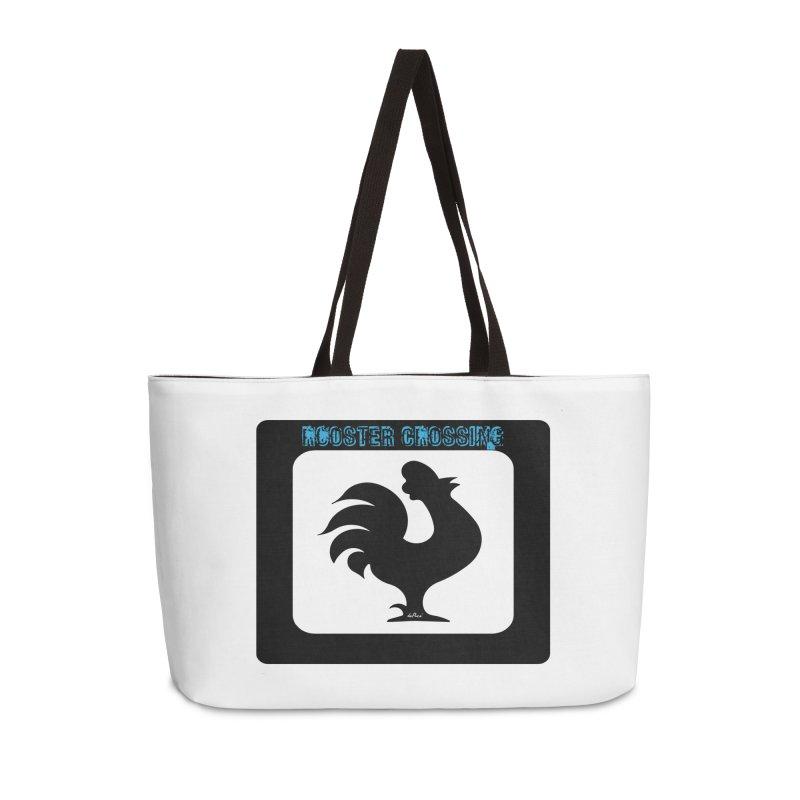 Rooster Crossing Sign Accessories Weekender Bag Bag by artworkdealers Artist Shop