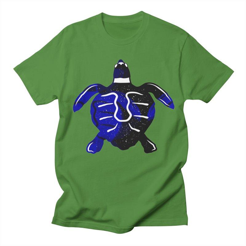 Sea Turtle of Many Colors Men's Regular T-Shirt by artworkdealers Artist Shop