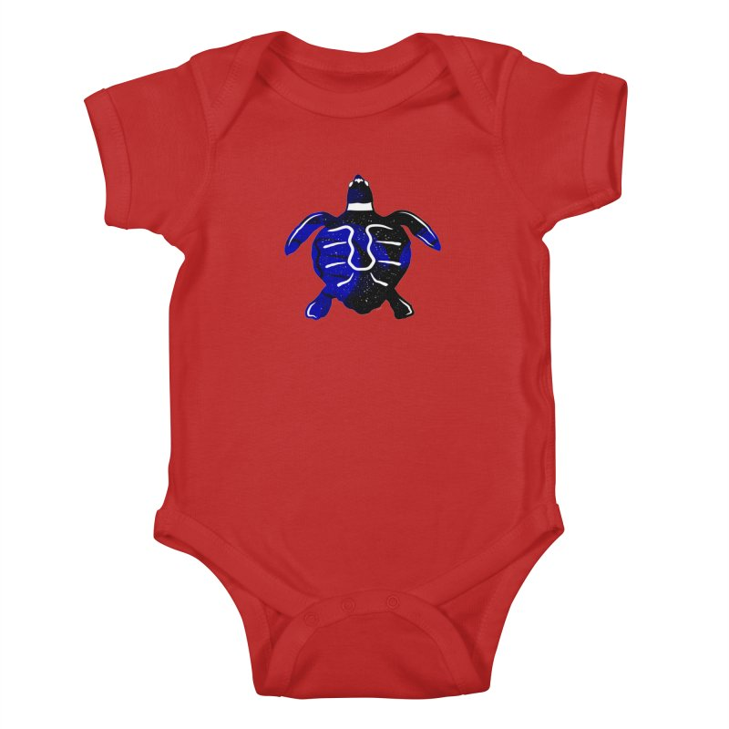 Sea Turtle of Many Colors Kids Baby Bodysuit by artworkdealers Artist Shop