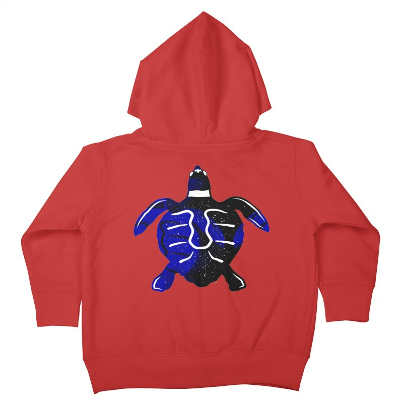 Sea Turtle of Many Colors Kids Toddler Zip-Up Hoody by artworkdealers Artist Shop