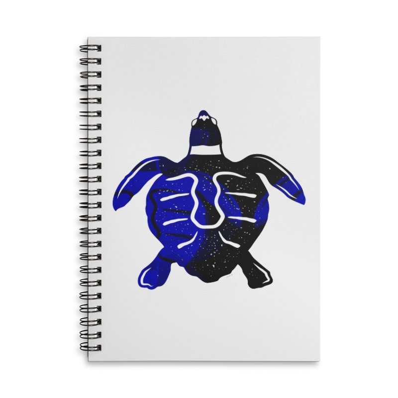Sea Turtle of Many Colors Accessories Lined Spiral Notebook by artworkdealers Artist Shop