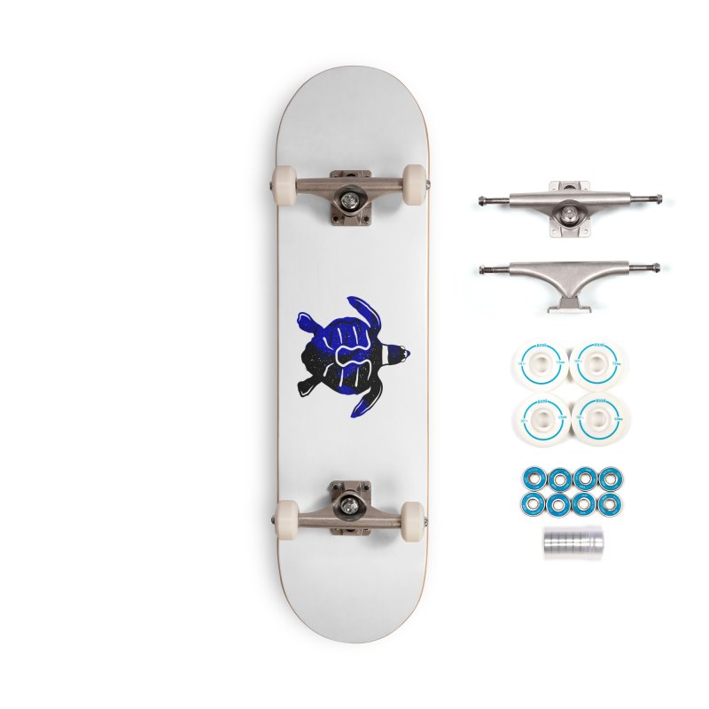 Sea Turtle of Many Colors Accessories Complete - Basic Skateboard by artworkdealers Artist Shop