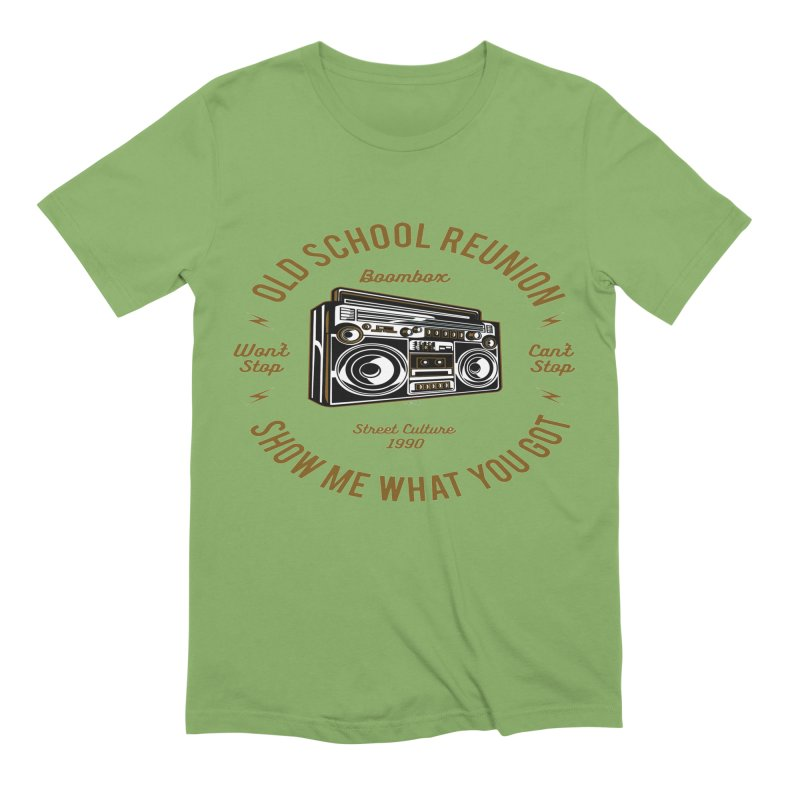 Old School Boombox Men's Extra Soft T-Shirt by artworkdealers Artist Shop