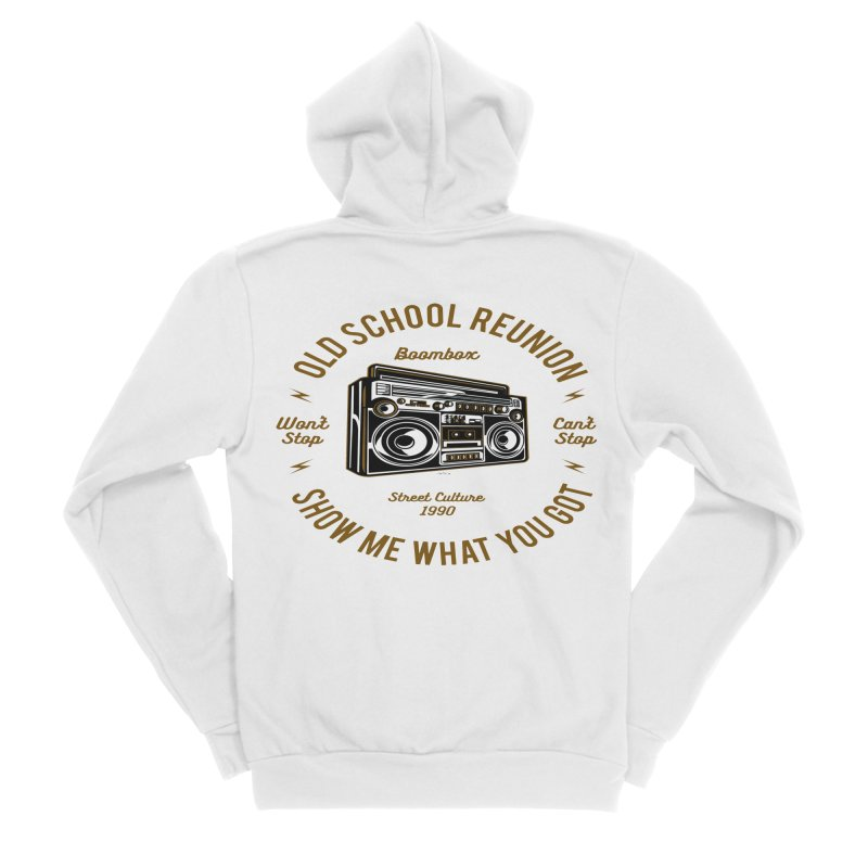 Old School Boombox Men's Sponge Fleece Zip-Up Hoody by artworkdealers Artist Shop