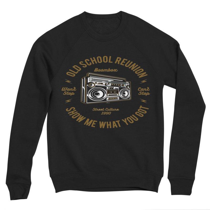 Old School Boombox Women's Sponge Fleece Sweatshirt by artworkdealers Artist Shop
