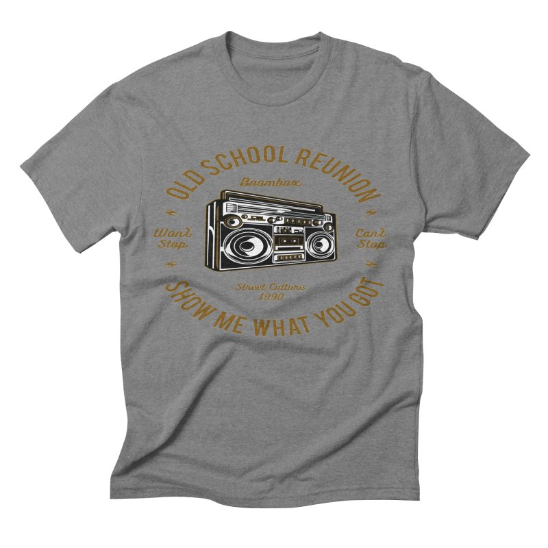 Old School Boombox Men's Triblend T-Shirt by artworkdealers Artist Shop