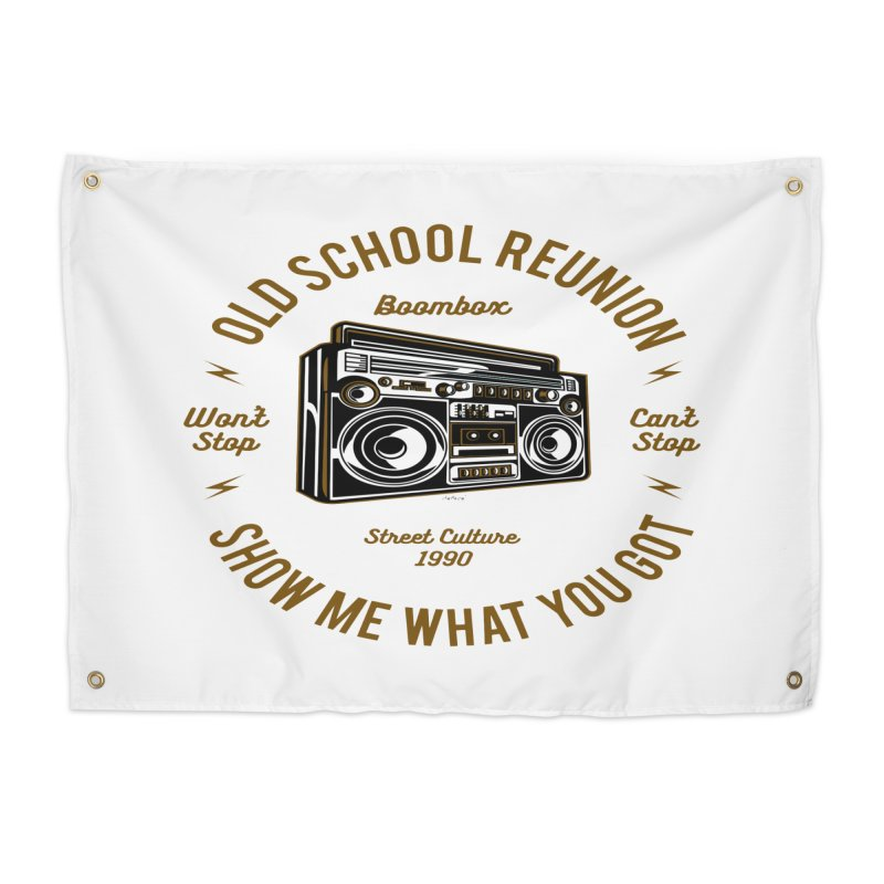 Old School Boombox Home Tapestry by artworkdealers Artist Shop