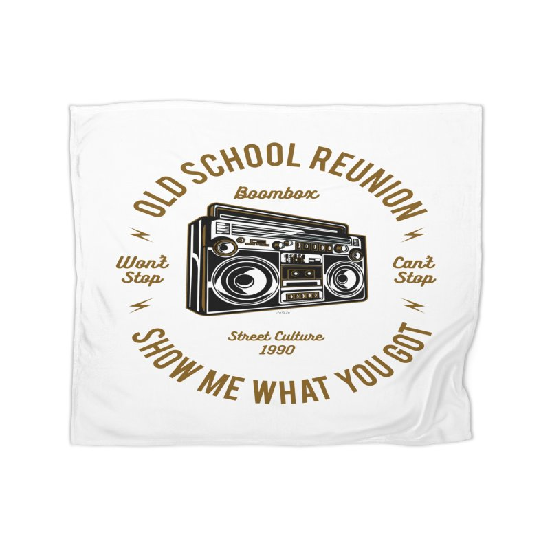 Old School Boombox Home Fleece Blanket Blanket by artworkdealers Artist Shop