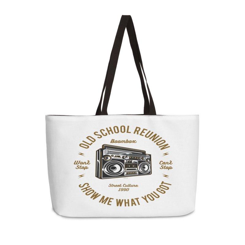 Old School Boombox Accessories Weekender Bag Bag by artworkdealers Artist Shop