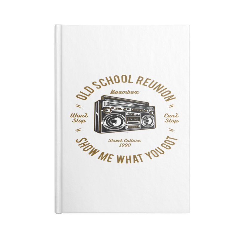 Old School Boombox Accessories Blank Journal Notebook by artworkdealers Artist Shop