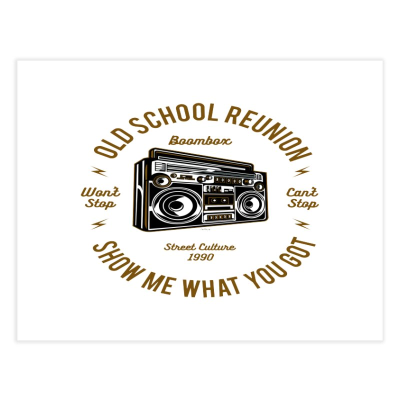 Old School Boombox Home Fine Art Print by artworkdealers Artist Shop