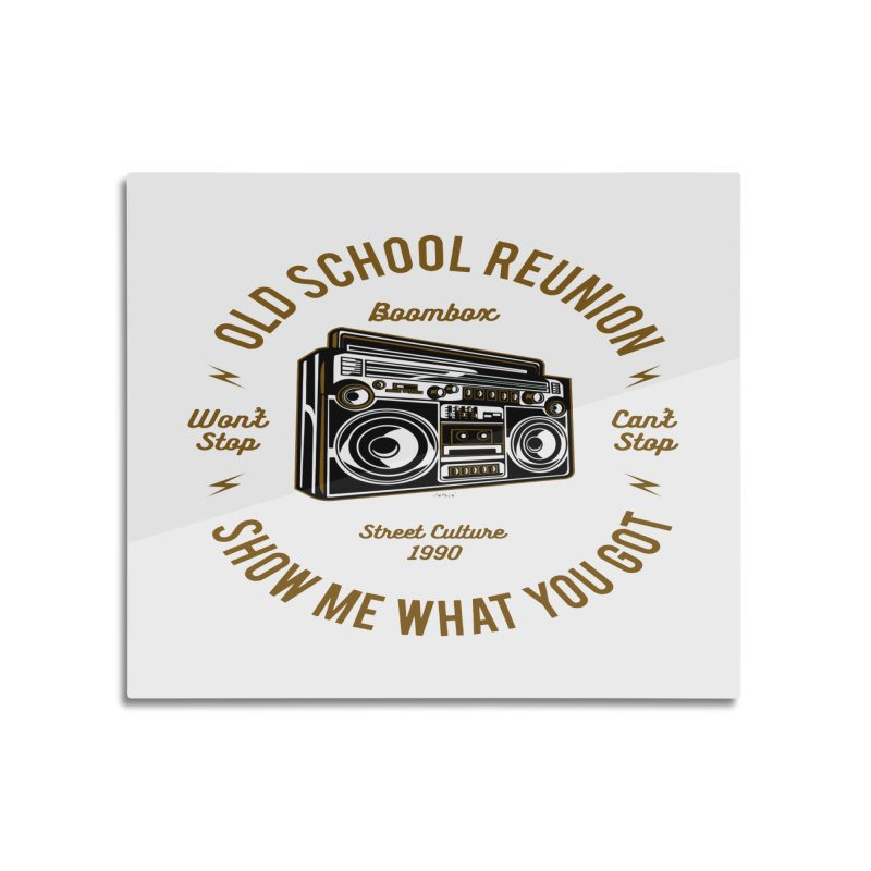 Old School Boombox Home Mounted Acrylic Print by artworkdealers Artist Shop
