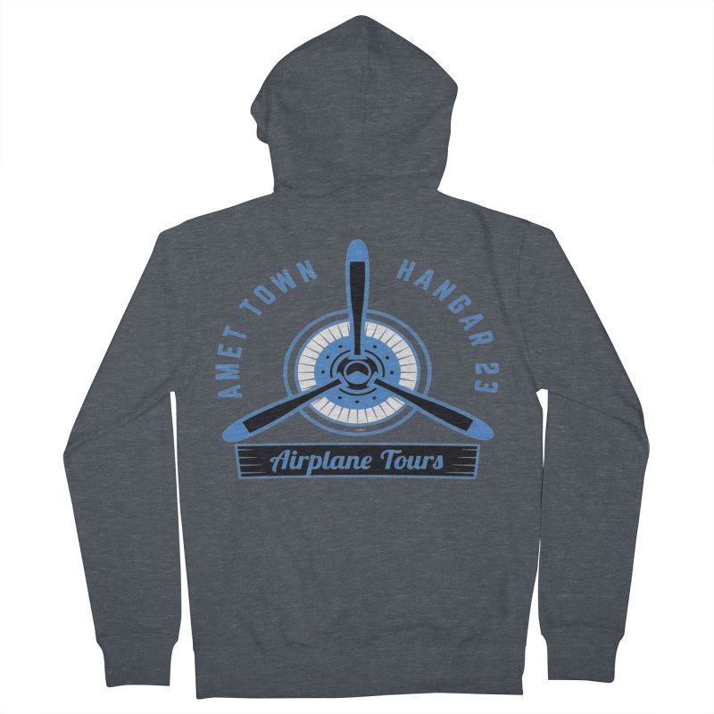 Airplane Tours Women's French Terry Zip-Up Hoody by artworkdealers Artist Shop