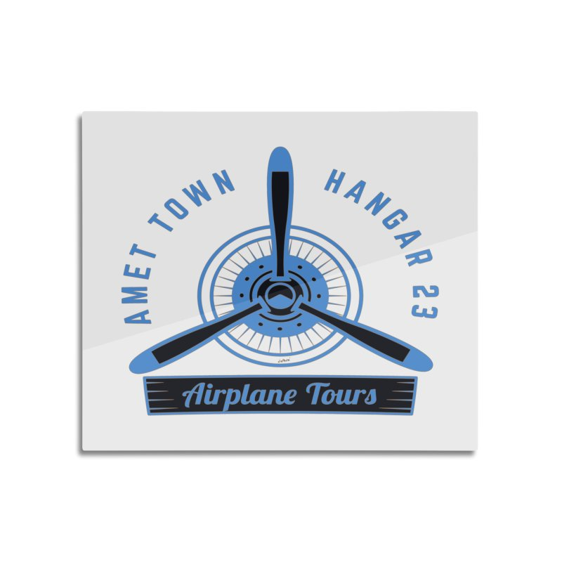 Airplane Tours Home Mounted Acrylic Print by artworkdealers Artist Shop
