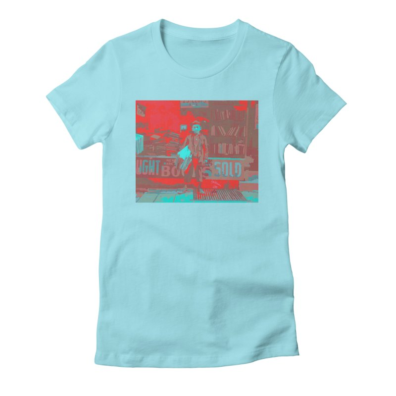 12 year old Newsboy in 1909 Women's Fitted T-Shirt by artworkdealers Artist Shop