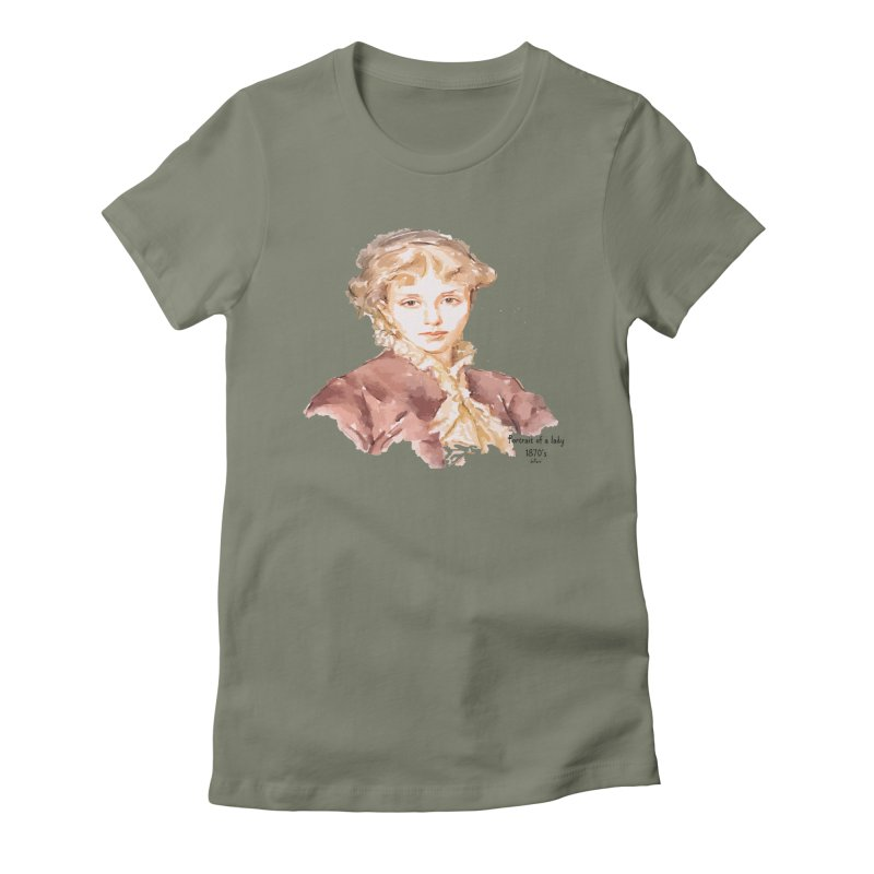 Portrait of a lady 1870's Women's Fitted T-Shirt by artworkdealers Artist Shop