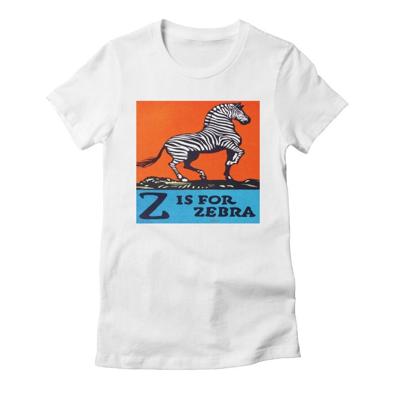 Z is For Zebra Women's Fitted T-Shirt by artworkdealers Artist Shop