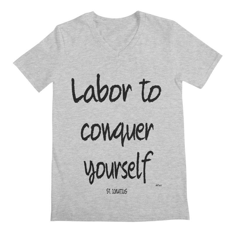 Labor to conquer yourself Men's Regular V-Neck by artworkdealers Artist Shop
